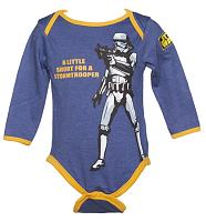 Kids Blue Marl Stormtrooper Star Wars Babygrow from Fabric Flavours