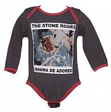 Kids Charcoal And Red Wanna Be Adored Stone Roses Babygrow from Amplified Kids