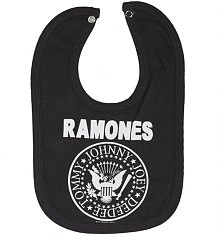 Kids Charcoal Ramones Logo Bib from Amplified Kids [View details]