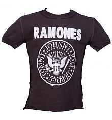 Kids Charcoal Ramones Logo T-Shirt from Amplified Kids [View details]