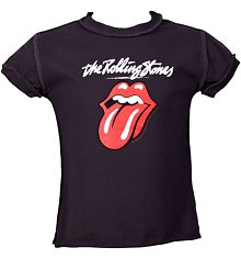 Kids Charcoal Rolling Stones Licks T-Shirt from Amplified Kids [View details]