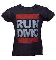 Kids Charcoal Run DMC Logo T-Shirt from Amplified Kids [View details]