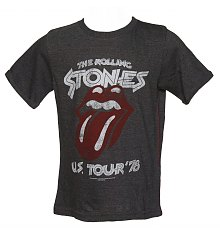 Kids Dark Grey Marl US Tour 76 Rolling Stones T-Shirt from Amplified Kids [View details]