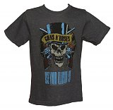 Kids Dark Grey Marl Use Your Illusion Guns N Roses T-Shirt from Amplified Kids