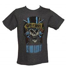 Kids Dark Grey Marl Use Your Illusion Guns N Roses T-Shirt from Amplified Kids [View details]