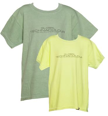 Kids Green To Yellow Heat Sensitive T-Shirt from Global Technacolour