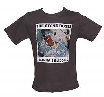 Kids Grey Marble Washed Wanna Be Adored Stone Roses T-Shirt from Amplified Kids