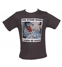 Kids Grey Marble Washed Wanna Be Adored Stone Roses T-Shirt from Amplified Kids [View details]
