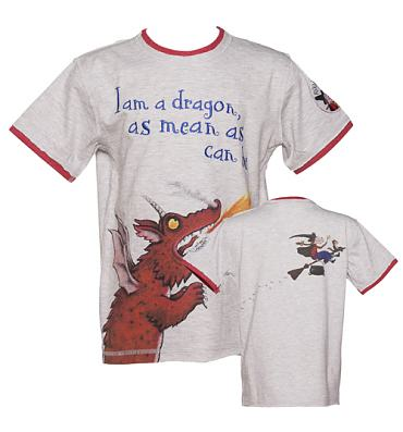 Kids Grey Marl Room On The Broom T-Shirt from Fabric Flavours