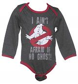 Kids I Ain't Afraid Of No Ghosts Ghostbusters Babygrow from Fabric Flavours