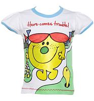 Kids Little Miss Trouble Here Comes Trouble T-Shirt from Fabric Flavours
