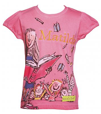 Kids Pink Matilda Roald Dahl T-Shirt from Fabric Flavours