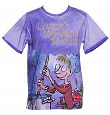 Kids Purple George's Marvellous Medicine Roald Dahl T-Shirt from Fabric Flavours