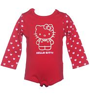 Kids Red Hello Kitty Bodysuit