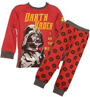 Kids Red Marl Star Wars Darth Vader Long Sleeved Pyjamas from Fabric Flavours