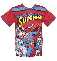 Kids Red Superman And Robot T-Shirt from Fabric Flavours
