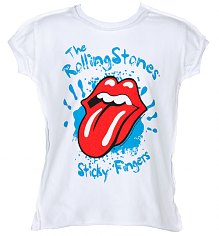 Kids Rolling Stones Sticky Fingers White T-Shirt from Amplified Kids [View details]