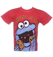 Kids Sesame Street Growing Monster Cookie Monster T-Shirt from Fabric Flavours