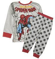 Kids Spiderman Long Sleeved Pyjamas from Fabric Flavours