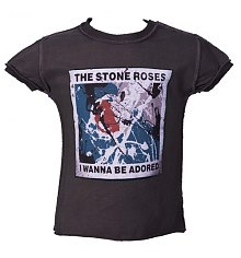 Kids Stone Roses Wanna Be Adored Charcoal T-Shirt from Amplified Kids [View details]