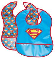 Kids Superbaby 2pk Crumb Catcher Bibs