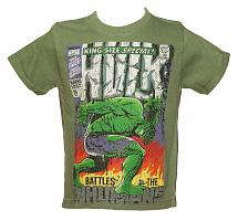 Kids Washed Green Hulk Comic Cover T-Shirt from Fabric Flavours