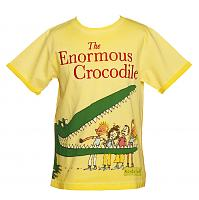 Kids Yellow Enormous Crocodile Roald Dahl T-Shirt from Fabric Flavours