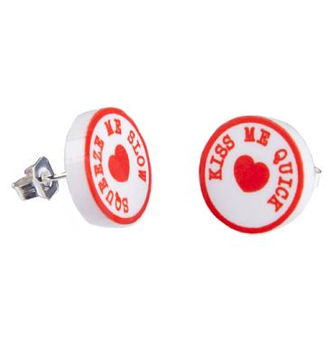 Kiss Me Quick Squeeze Me Slow Stud Earrings from Punky Pins