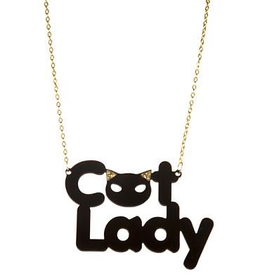 Kitsch Cat Lady Necklace from Chelsea Doll