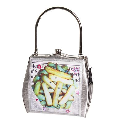 Kitsch Fish And Chips Frame Handbag from Helen Rochfort
