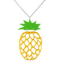 Kitsch Pineapple Necklace from Chelsea Doll
