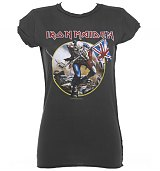 Ladies Iron Maiden Trooper Charcoal T-Shirt from Amplified Vintage