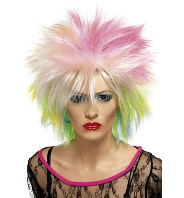 Ladies 80's Cute Rainbow Wig