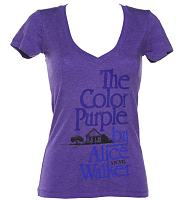 Ladies Alice Walker The Colour Purple Novel V-Neck T-Shirt from Out Of Print