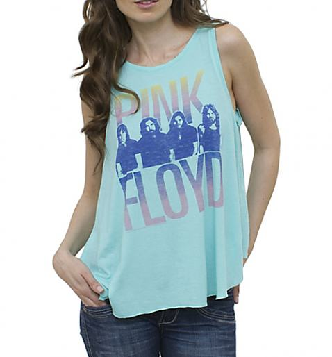 Ladies Aqua Pink Floyd Open Back Swing Vest from Junk Food