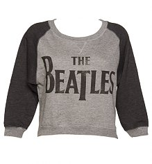 Ladies Baseball Style Beatles Logo Cropped Fleece Sweater [View details]