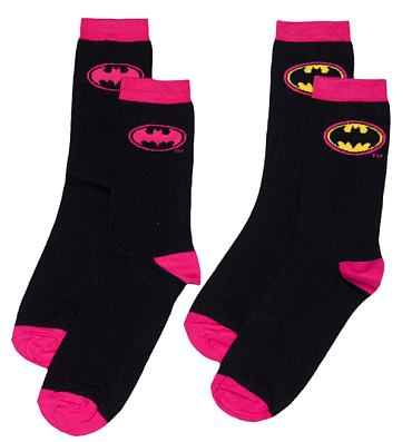 Ladies Batgirl 2pk Socks
