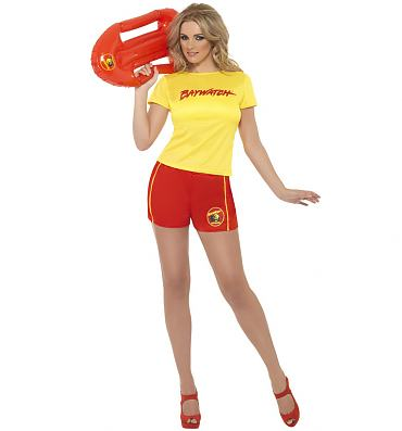 Ladies Baywatch Beach Fancy Dress Costume