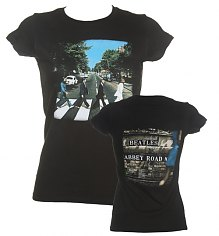 Ladies Beatles Abbey Road Vintage Print T-Shirt [View details]