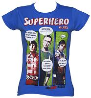 Ladies Big Bang Theory Superhero Quips T-Shirt