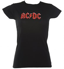 Ladies Black AC/DC Classic Logo T-Shirt [View details]