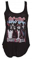 Ladies Black AC/DC Highway To Hell Vest from Junk Food [View details]