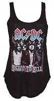 Ladies Black AC/DC Highway To Hell Vest from Junk Food