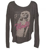 Ladies Black Blondie Photographic Long Sleeve Dipped Hem T-Shirt from Junk Food