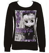 Ladies Black Blythe Magazine Cover Sweater