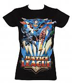 Ladies Black DC Comics Justice League T-Shirt