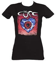 Ladies Black Heart The Cure T-Shirt