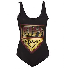 Ladies Black Kiss Army Body Suit from Amplified Vintage [View details]