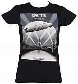 Ladies Black Led Zeppelin Mothership T-Shirt