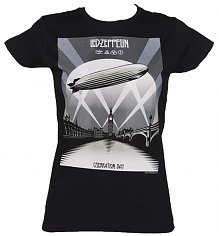 Ladies Black Led Zeppelin Mothership T-Shirt [View details]